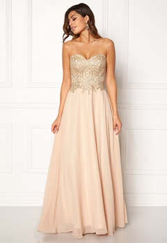 SUSANNA RIVIERI Embellished Chiffon Dress Champagne Bubbleroom.se