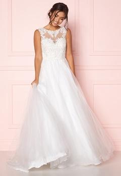 SUSANNA RIVIERI Embellished Tulle Dress Ivory Bubbleroom.se