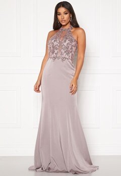 SUSANNA RIVIERI Halterneck Dream Dress Mauve Bubbleroom.se