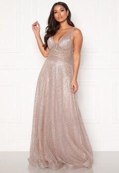 SUSANNA RIVIERI Sparkling Glitter Gown Mauve Bubbleroom.se