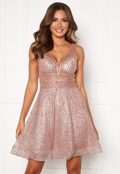 SUSANNA RIVIERI Sparkling Short Glitter Gown Mauve bubbleroom.se