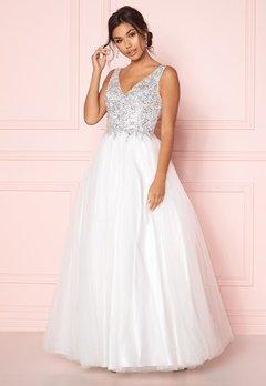 SUSANNA RIVIERI Sparkling Tulle Dress Ivory Bubbleroom.se