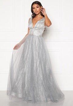 SUSANNA RIVIERI Stardust Gown Silver Bubbleroom.se
