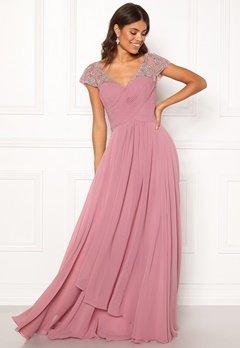 SUSANNA RIVIERI Sweetheart Chiffon Dress Rose Bubbleroom.se