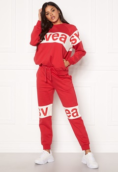 Svea 2 Col Big Svea Logo Sweat Pants 400 Red Bubbleroom.se