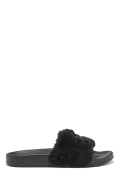Svea Alex Fur Slipper Black Bubbleroom.se
