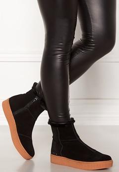 Svea Anna High Suede Shoes 900 Black Bubbleroom.se
