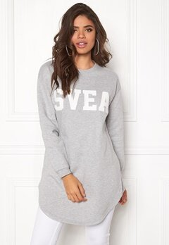 Svea Mabel Sweat 905 Lt Grey Melange Bubbleroom.fi