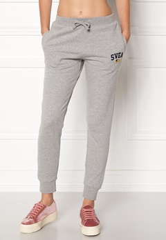 Svea Maj Sweat Pants 904 Grey Melange Bubbleroom.fi