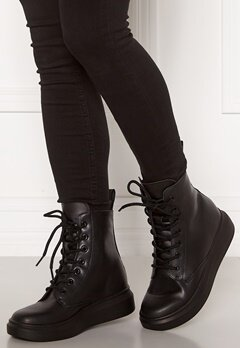 Svea Sneaker Leather Boots 900 Black Bubbleroom.se