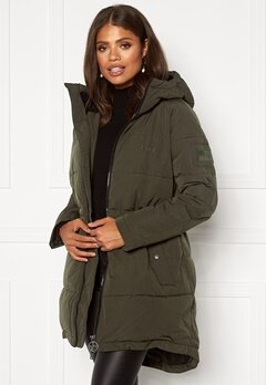 Svea W. Hourglass Puffer Jacket 206 Dark Army Bubbleroom.se