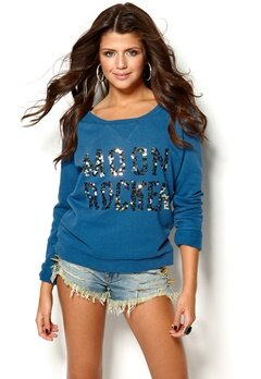 MAISON SCOTCH Sweater Blue Bubbleroom.se