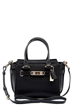 COACH Swegger Leather Bag LIBLK Black Bubbleroom.se
