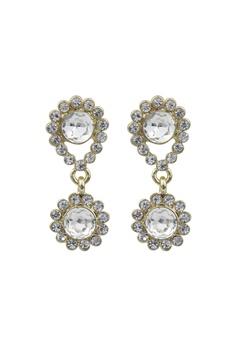 SNÖ of Sweden Swire Small Earrings Gold/Clear Bubbleroom.se