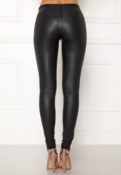 SELECTED FEMME Sylvia Leather Legging Black Bubbleroom.se
