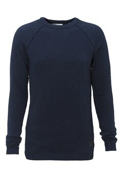Tailored & Original Salthill Knit 1991 Insignia Blue Bubbleroom.se