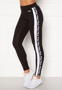 FILA Tasya Leggings E09 black-bright whi Bubbleroom.se