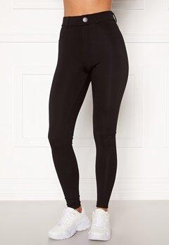ONLY Taylor Check Leggings Black Bubbleroom.se