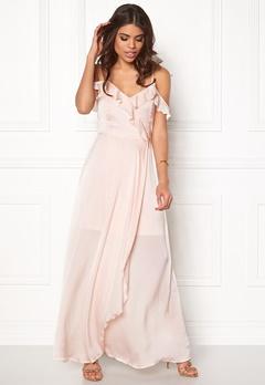 VERO MODA Tessa Frill Maxi Dress Silver Peony Bubbleroom.se