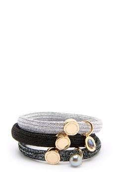 The Marc Jacobs The Medallion Abalone Elastics 002 Black Multi/Gold Bubbleroom.se
