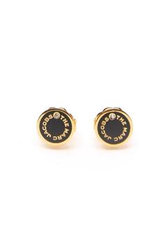 The Marc Jacobs The Medallion Studs Earrings 001 Black/Gold Bubbleroom.se