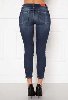 the Odenim O-Swee Jeans 09 DK Midblue Bubbleroom.se