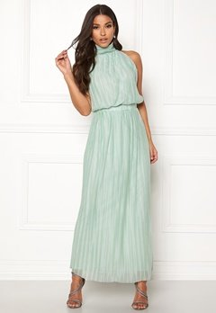 VILA Tippy S/L Maxi Dress Blue Haze Bubbleroom.se