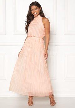 VILA Tippy S/L Maxi Dress Silver Peony Bubbleroom.se