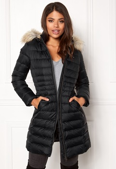 TOMMY HILFIGER DENIM Basic Down Coat Black beauty Bubbleroom.fi