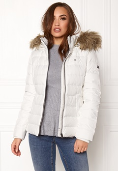 TOMMY HILFIGER DENIM Basic Down Jacket Snow white Bubbleroom.fi