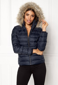 TOMMY HILFIGER DENIM Basic Down Jacket Total eclipse Bubbleroom.se