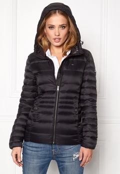 TOMMY HILFIGER DENIM Basic Puffa Jacket 078 Tommy Black Bubbleroom.se