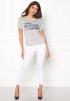 TOMMY HILFIGER DENIM Basic s/s T-shirt 088 Mid Grey Heather Bubbleroom.fi