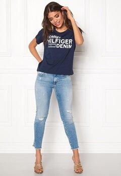 TOMMY HILFIGER DENIM Basic s/s T-shirt 414 Dress Blues Bubbleroom.dk