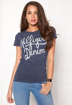 TOMMY HILFIGER DENIM Basic T-shirt S/S Dress Blues Bubbleroom.fi