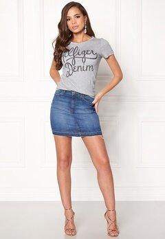 TOMMY HILFIGER DENIM Basic T-shirt S/S Light Grey Bubbleroom.se