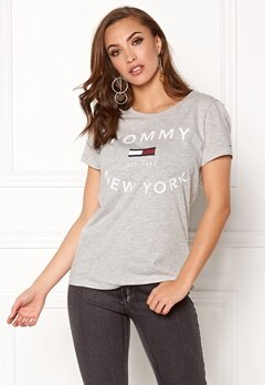 TOMMY HILFIGER DENIM City T-Shirt lt grey htr/new york Bubbleroom.se