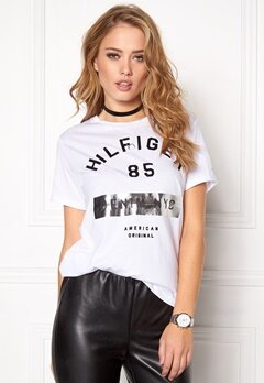 TOMMY HILFIGER DENIM Cn s/s T-shirt 100 Classic White Bubbleroom.no