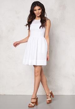 TOMMY HILFIGER DENIM Gathered Skirt Dress 100 Classic White Bubbleroom.se