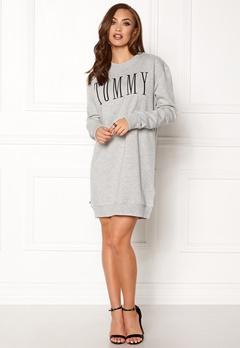 TOMMY HILFIGER DENIM Hknit Dress Light grey htr Bubbleroom.se