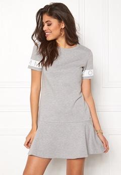 TOMMY HILFIGER DENIM Peplum s/s Dress 088 Mid Grey Heather Bubbleroom.se