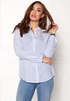 TOMMY HILFIGER DENIM Stripe Shirt serenity/brightwhite Bubbleroom.se