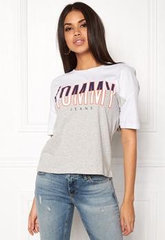 TOMMY HILFIGER DENIM T-shirt S/S 21 Bright White Bubbleroom.fi