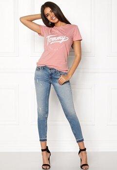 TOMMY HILFIGER DENIM T-shirt S/S 29 Blush Bubbleroom.se