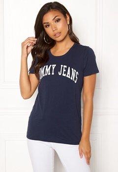 TOMMY JEANS Clean Logo Tee Black Iris Bubbleroom.se
