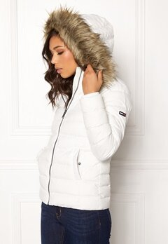 TOMMY JEANS Essential Down Jacket 116 Snow White Bubbleroom.se