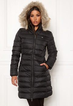 TOMMY JEANS Essential Hooded Down Coat BBU Black Bubbleroom.se