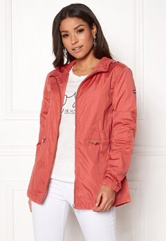 TOMMY JEANS Essential Jacket 689 Spiced Coral Bubbleroom.se