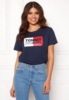 TOMMY JEANS Logo Tee 002 Black Iris Bubbleroom.se