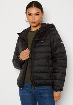 TOMMY JEANS Quilted Hooded Jacket BDS Black Bubbleroom.se